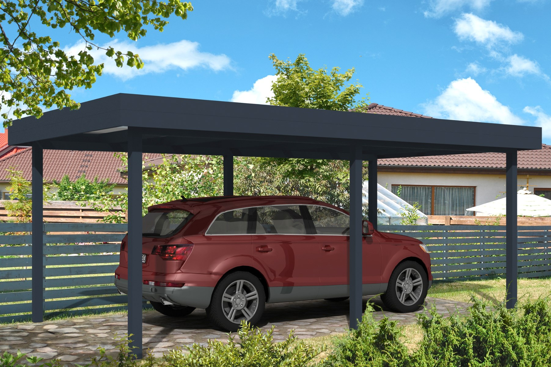 Carport With Flat Roof From Roomoutdoors Ireland