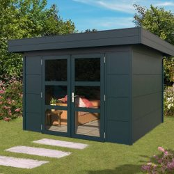 Outdoor Garden Cabin with Flat Roof