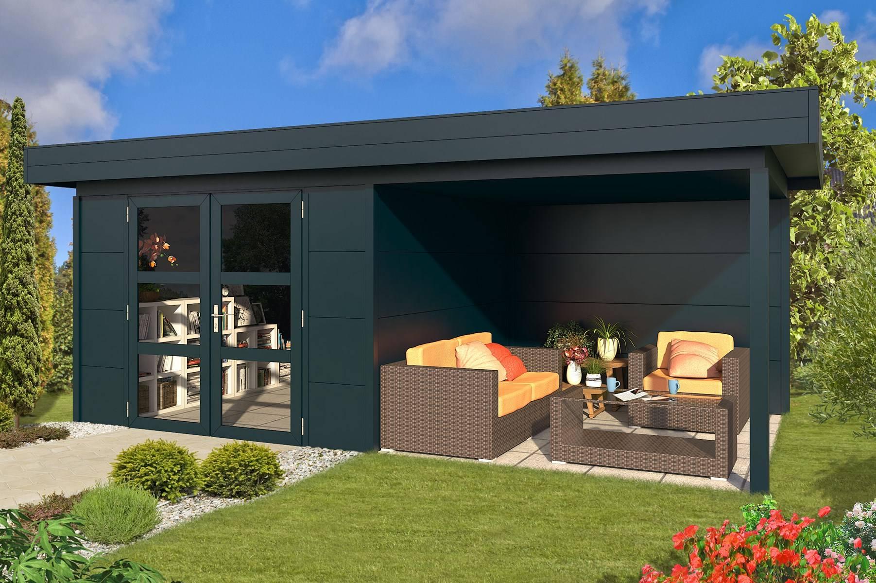 Outdoor Garden Cabin With Flat Roof From Roomoutdoors Ireland
