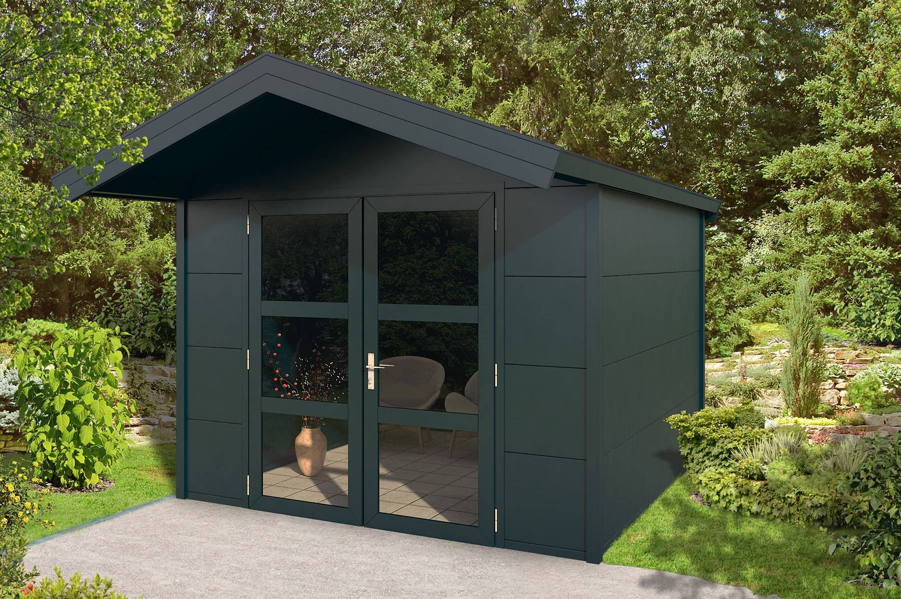 Outdoor cabin saddled roof 1 roomoutdoors for Garden rooms limerick