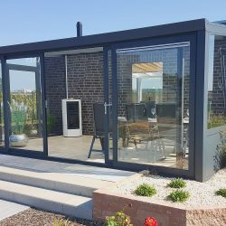 Complete Garden Room with 4 Piece Sliding Doors