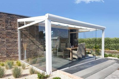 Complete Garden Room with Glass Sliding System