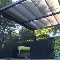 Pergola with Fabric Blinds
