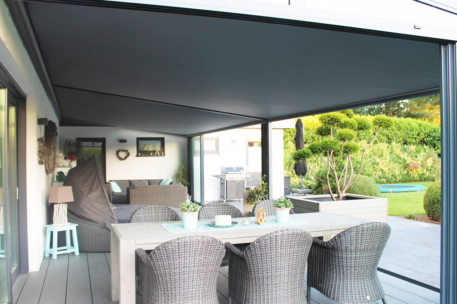 Under-roof Sun Awnings with Tracfix from RoomOutdoors Ireland